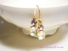 Ohrringe Kristall, Vintage von DeineSchmuckFreundin auf DaWanda.com