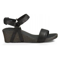 Teva Women Ysidro Stitch Wedge Black