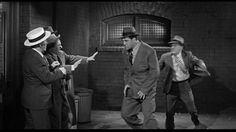 239. Moe Howard, Larry Fine, Shemp Howard (barely visible), Sammy Stein (as Gorilla Watson), Heinie Conklin (as Watson's manager) | Fling in the Ring (1955) | Three Stooges short directed by Jules White