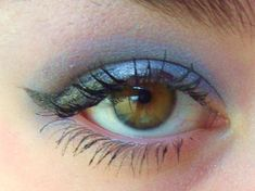 Cute cotton candy look for hazel eyes