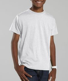 la t youth vintage fine jersey t-shirt - blended white (m)