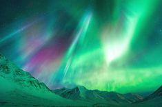 Final Fantasy World - Aurora Borealis above Alaska. This shot was taken on Dalton Highway, at Atigun Pass, Alaska, USA Northan Lights, East Of The Sun, Beautiful Sky, Fantasy World, Nature Photos, Amazing Nature, Night Skies, Final Fantasy, Wonders Of The World