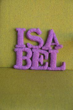 Letter E - 3D Alphabet - Words Home Deco - Font with Serif - CROCHET PATTERN No.91