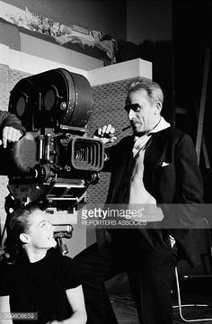 Director Henri Georges Clouzot Presents to The Press His Movie 'L'Enfer' With Actress Romy Schneider in Paris France on June 22 1964