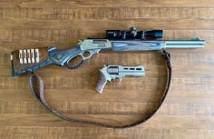 What do you think of this Marlin and Rhino combo? Tiger Cubs, Tiger Tiger, Bear Cubs, Bengal Tiger, Weapons Guns, Guns And Ammo, Arsenal, Revolver Rifle, Firearms