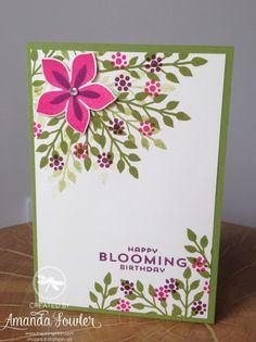 Flower Patch Card Stampin' Up! UK Inspiring Inkin