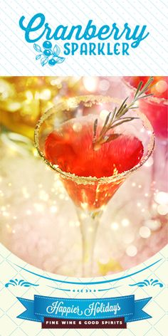 Holiday Cocktails & Drink Ideas - Happier Holidays from Fine Wine & Good Spirits New Year's Eve Cocktails, Wine Cocktails, Classic Cocktails, Holiday Cocktails, Cocktail Drinks, Good Spirits, Wine And Spirits, Thing 1