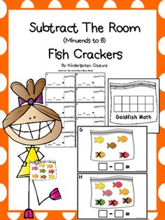Are your kiddos ready to work on subtraction? Here is a great beginning subtraction center. There are 10 half page posters to hang around your room for a fun seasonal subtract the room center. Students count the number of crackers on each poster and write how many, then they count how many crackers have an X on them (take away), last they write how many are left without an X.