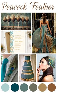 Peacock Wedding Inspiration Mood Board Color Palette Teal and Gold. Wedding Dres… Peacock Wedding Inspiration Mood Board Color Palette Teal and Gold. Peacock Colors, Purple Peacock, Peacock Feathers, Peacock Wedding Colors, Peacock Themed Wedding, Peacock Wedding Decorations, Wedding Dress Colors, Peacock Color Scheme, Peacock Wedding Invitations