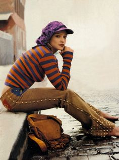 Photo shoot from by Steven Meisel that was published in the   American October and the Italian November issues of Vogue.