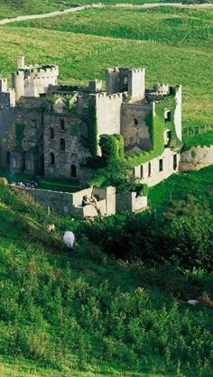 Clifden Castle is a ruined manor house west of the town of Clifden in the Connemara region of County Galway, Ireland. It was built circa 1818 for John D'Arcy, the local landowner, in the Gothic Revival style. Oh The Places You'll Go, Places To Travel, Places To Visit, Beautiful Castles, Beautiful Places, Belle Image Nature, Photo Chateau, Ireland Travel, Galway Ireland