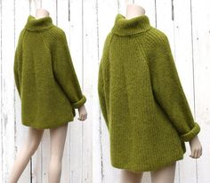 80s oversized mohair Olive Martini sweater  One Size  small