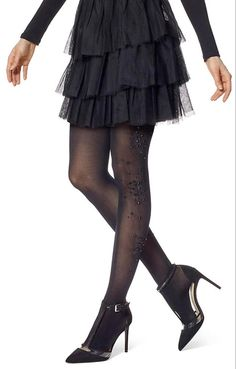 Hue Rhinestone Cluster Tights - See more tights at www.fashion-tights.net ‪#tights #pantyhose #hosiery #nylons #fashion #legs‬ #legwear #advertising #influencer #collants