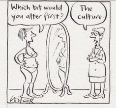 The culture of negative body image & the culture of processed foods. Both are intolerable.
