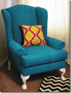 this sounds crazy, but apparently you can paint upholstered furniture!!!