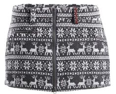This awesome #SkHoop Alaska Knit Skirt comes in a gorgeous reindeer print, and is easy to add as a layer to your outfit, using the 2 way zip! $128.00 #gift
