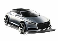 Audi Crosslane Coupe Concept - Design Sketch - Car Body Design