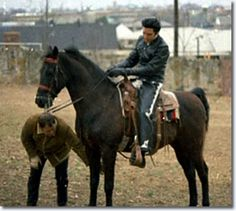 Elvis and one of his many horses