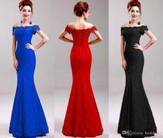 Cheap Plus Size Prom Dresses Red Black Royal Blue Long Lace Mermaid Prom Dresses 2016 Bateau Off Shoulder Party Evening Dresses Vestido Cheongsa 2015 Wedding Dresses Cinderella Prom Dresses From Bestdeals, $54.36| Dhgate.Com