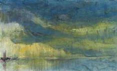 Emil Nolde, Boote unter blauen und grünen Wolken, watercolor on paper http://paintwatercolorcreate.blogspot.com/2013/08/the-vibrant-watercolors-of-emil-nolde.html