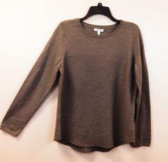 Croft & Barrow Ladies L/S Crewneck Pullover Sweater NEW/NWT Sand Assorted Sizes #CroftBarrow #Crewneck