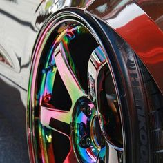 Neo Chrome and Style Rims For Cars, Rims And Tires, Car Rims, Racing Rims, Slammed Cars, Jdm Cars, Custom Wheels, Custom Cars, Drifting Cars