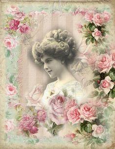 (via Digital collage sheet via Vintage ~ Victorian Prints)