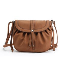 Vintae Ruffle Studded Crossbody Bags for Women 6135