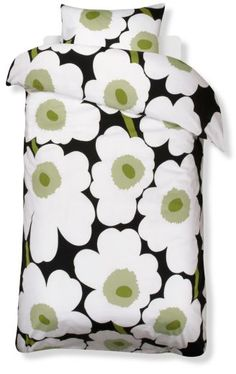 The unikko euro sateen black from Marimekko Vancouver is a unique fashion item. Marimekko Vancouver carries a variety of Bed and other catalog items. Satin Bedding, Black Bedding, Linen Bedding, Home Textile, Textile Design, Marimekko Bedding, Scandinavian Fabric, Scandinavia Design, Nordic Design
