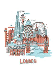 JAMES GULLIVER HANCOCK 'LONDON LANDMARKS' PRINT