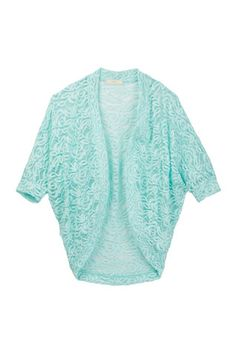 Lace Cocoon Open Front Cardi (Big Girls)