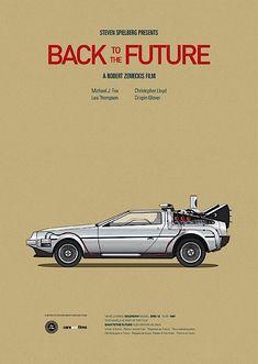 ILLUSTRATIONEN: Autos und die passenden Filmposter