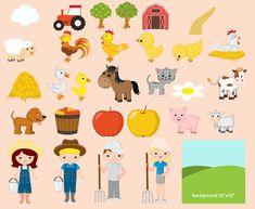 80% off Farm Clipart / Farm digital clip art by JulyDigitalImages