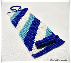 DIY Mavi Beyaz Bileklik / DIY Blue White Bracelet