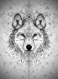 Wolf tattoo by David Hale – Tattoos pictures – Tattoo ideas Illustration Arte, Illustrations, Geometric Wolf, Abstract Wolf, Geometric Sleeve, Arte Tribal, Tatoo Art, Doodles Zentangles, Wolf Tattoos