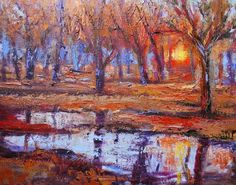 Landscape Artists International: After the Rain's Reflection, New Contemporary Landscape Painting by Sheri Jones
