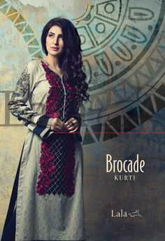 Brocade Kurti Summer Eid Collectin 2015 by Lala (4)