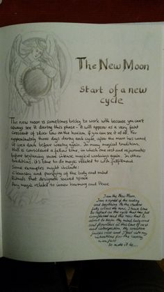 moon magick / new moon Hoodoo Spells, Wiccan Spells, Harry Potter Spells List, New Moon Rituals, Witch Board, Gypsy Witch, Book Journal, Bullet Journal, Moon Magic