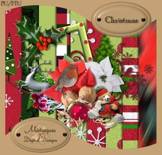MizTeeques: New FTU kit - Christmas