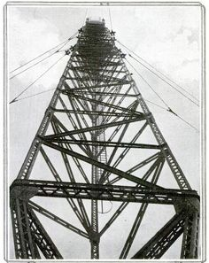 World's largest radio tower, 1914, Tuckerton, NJ. #RadioHistory