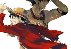 Luffy and Ace _One Piece One Piece Ace, One Piece Luffy, One Piece Pictures, One Piece Images, Belle Cosplay, One Piece English Sub, Ace Sabo Luffy, The Pirate King, Monkey D Luffy