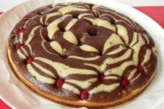 Mramorový dort s malinami Pancakes, Raspberry, Pudding, Pie, Sweets, Baking, Breakfast, Food, Recipes