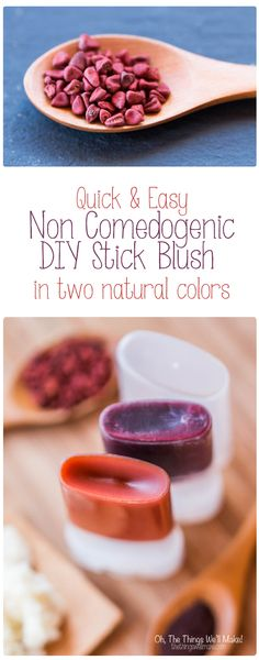 Making a non comedogenic DIY blush stick is a very quick and simple project that uses only natural ingredients.