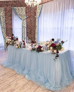 Wedding Countdown Without the flowers on top pretty for the wedding party table Romantic Wedding Receptions, Wedding Reception Backdrop, Wedding Centerpieces, Wedding Table, Wedding Backdrops, Wedding Draping, Wedding Decor, Wedding Ceremony, Wedding Ideas