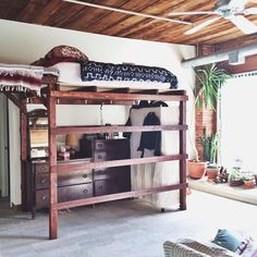 Always wanted a lofted bed like this in my studio living days. Not sure where it would fit on the house now.