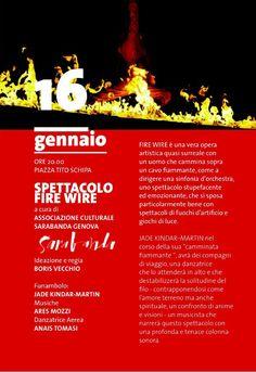 FIRE WIRE - Sarabanda Associazione Culturale Genova