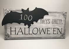 Count down the days to your favorite time of year with Zombolina's Halloween Countdown chalkboard! Handmade and painted in Los Angeles with carved lettering and details, applied chalkboard shape, and hidden chalk holder. Unique Gifts, Great Gifts, Handmade Gifts, Days Until Halloween, Chalk Holder, Halloween Countdown, How To Distress Wood, Chalkboard, How To Apply