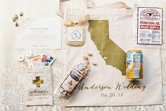 Let your wedding guests recover in style with this welcome bag.