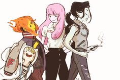 Adventure Time Greasers by LL (can anyone help me find the artist?)