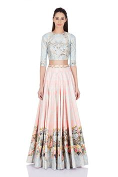 Falguni & Shane Peacock - Chintz Rose Floral Printed Skirt